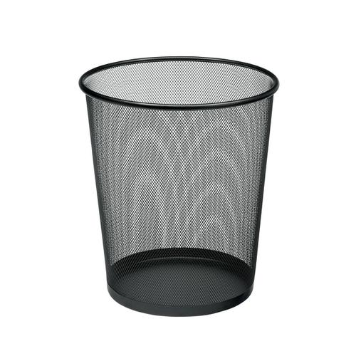 5 Star Office Mesh Waste Bin Lightweight Sturdy Scratch Resistant 15-20 Litres DxH 305x345mm Black by The OT Group, 288013