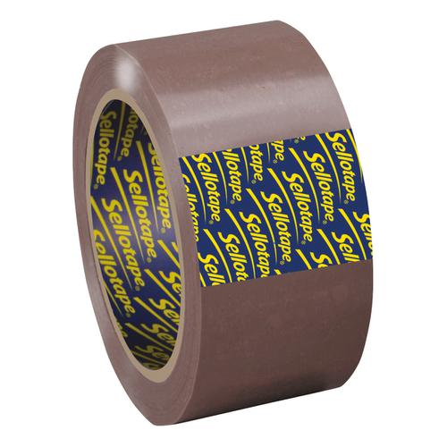 Sellotape Superseal Case Sealing Tape Polypropylene 50mmx66m Buff Ref 1445172 [Pack 6]