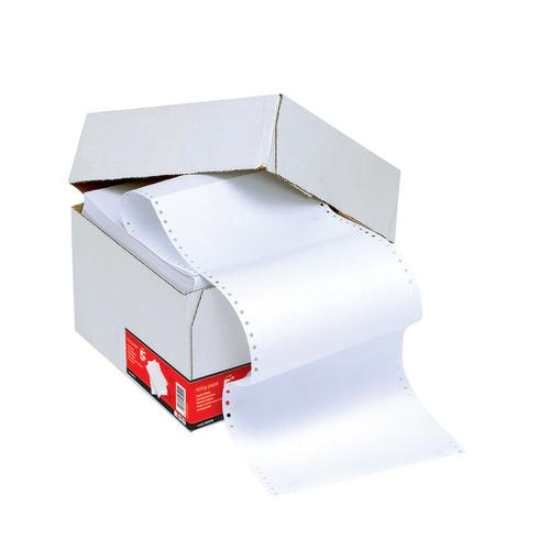 5 Star Office Listing Paper 1-Part Micro-perforated 70gsm 12inchx235mm Plain [2000 Sheets]
