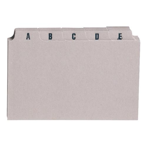 5 Star Office Guide Card Set A-Z 8x5in 25 Cards 203x127mm Buff