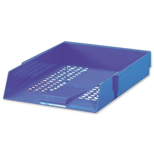 5 Star Office Letter Tray High-impact Polystyrene Foolscap Blue by The OT Group, 295802