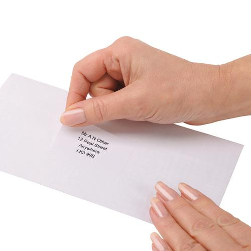 5 Star Office Multipurpose Labels Laser Copier Inkjet 14 per Sheet 99.1x38.1mm White [1400 Labels] by The OT Group, 296794