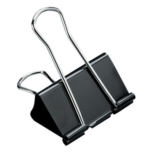 5 Star Office Foldback Clips 41mm Black [Pack 12] by The OT Group, 296883