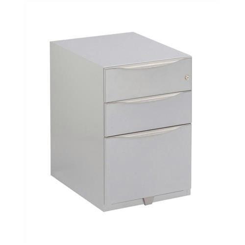 Sonix 3 Drawer Tall Under Desk Filing Pedestal 420x565x645mm Silver Ref NWA52M7SSF