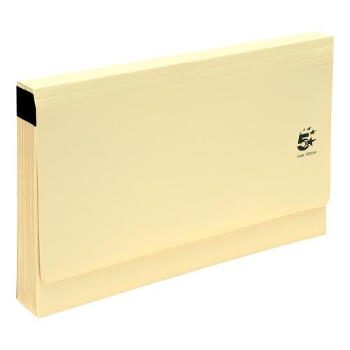 5 Star Office De Luxe Expanding File 19 Pockets A-Z Foolscap Cardboard Cover Buff