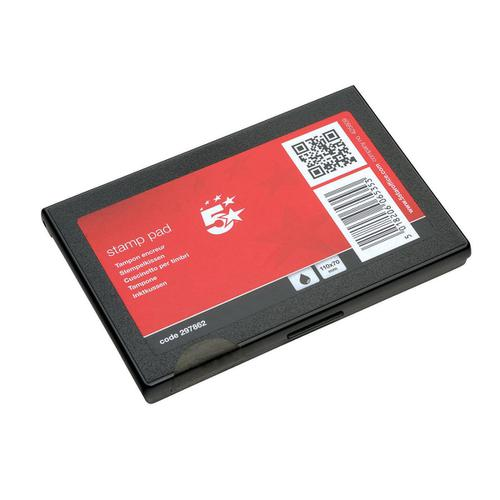 5 Star Office Stamp Pad 110x70mm Black