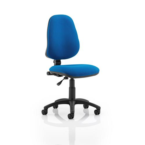 5 Star Office 1 Lever High Back Permanent Contact Chair Blue 480x450x490-590mm Ref OP000159