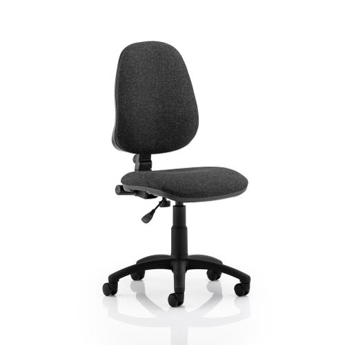 Trexus 1 Lever High Back Permanent Contact Chair Charcoal 480x450x490-590mm Ref OP000160