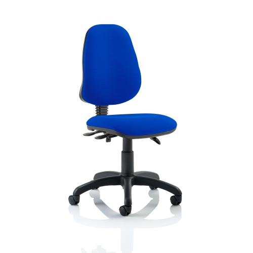 Trexus 3 Lever High Back Asynchronous Chair Blue 480x450x490-590mm Ref OP000032