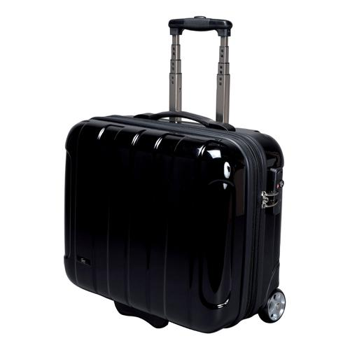 JSA Business Trolley ABS Polycarbonate with Removable Laptop Case Black Ref 45513