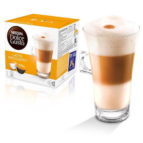 Nescafe Latte Macchiato Capsules for Dolce Gusto Machine Ref 12416323 Packed 48 (3x16 Capsules=24 Drinks)