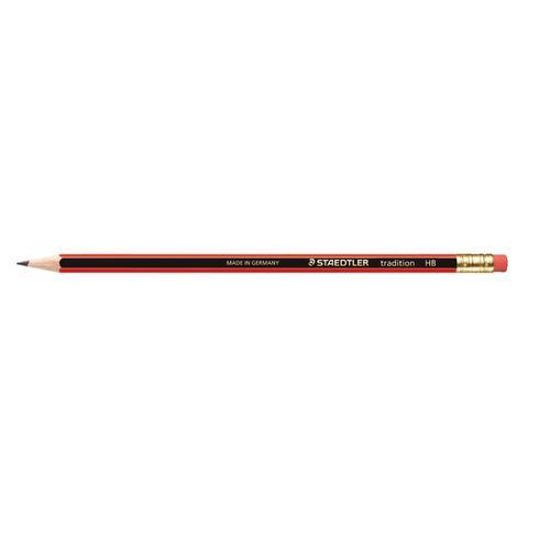 328825 | Staedtler 110 Tradition Pencil with Eraser PEFC HB Ref 112HBRT [Pack 12] | Office Pencils