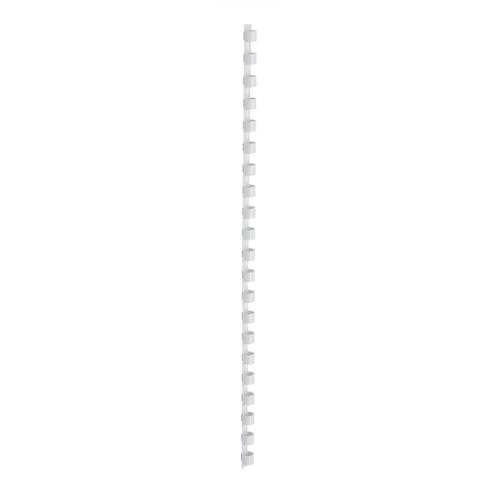 5 Star Office Binding Combs Plastic 21 Ring 45 Sheets A4 8mm White [Pack 100]