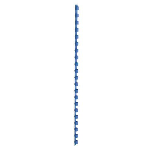 5 Star Office Binding Combs Plastic 21 Ring 45 Sheets A4 8mm Blue [Pack 100]