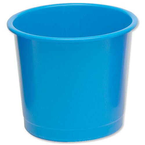 5 Star Office Waste Bin Polypropylene 14 Litre Capacity 304x254mm Blue