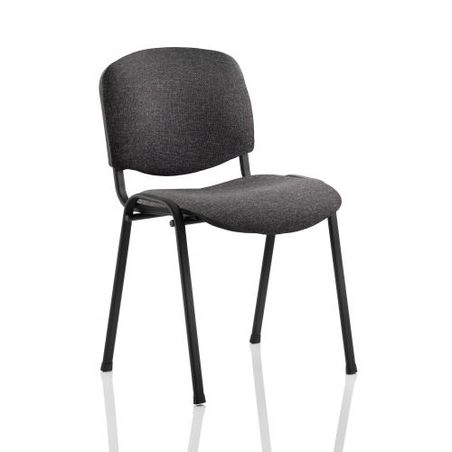 Trexus Stacking Chair Black Frame Charcoal 470x420x500mm Ref BR000059