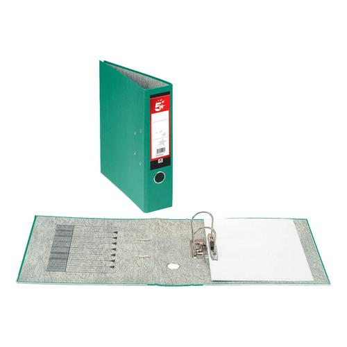 5 Star Office Lever Arch File 70mm Foolscap Green [Pack 10]