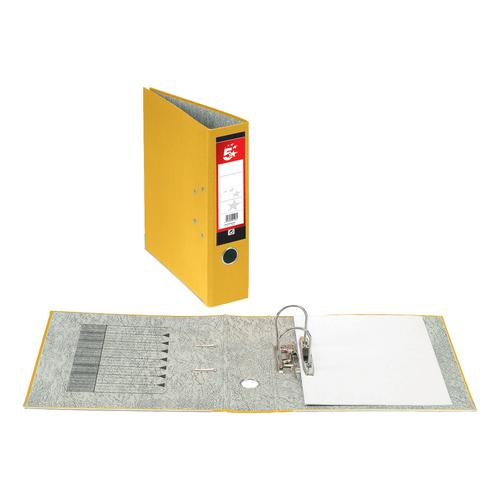 5 Star Office Lever Arch File 70mm Foolscap Yellow [Pack 10]