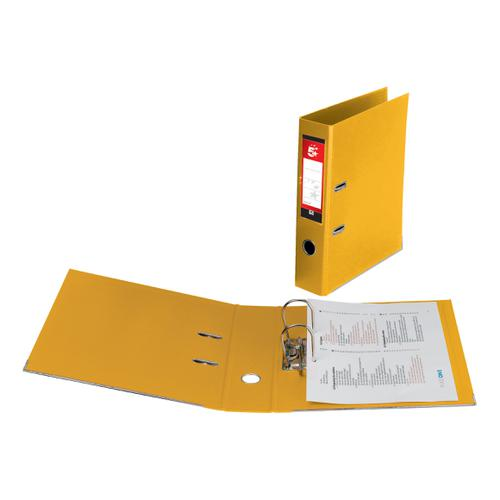 5 Star Office Lever Arch File Polypropylene Capacity 70mm A4 Yellow [Pack 10]