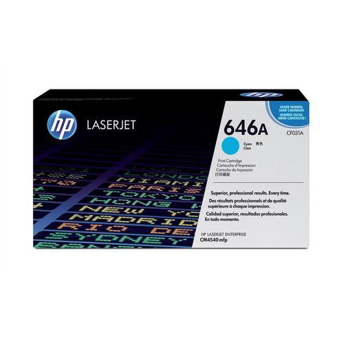 HP 646A Laser Toner Cartridge Page Life 12500pp Cyan Ref CF031A