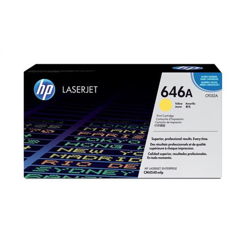 HP 646A Laser Toner Cartridge Page Life 12500pp Yellow Ref CF032A