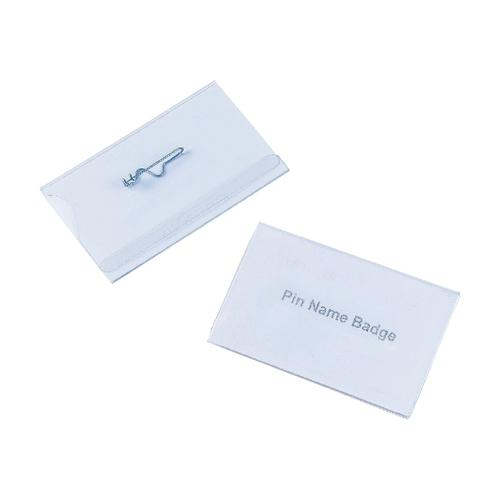 5 Star Office Name Badges Landscape with Pin 54x90mm [Pack 50]