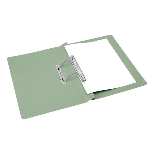 5 Star Office Transfer Spring File Mediumweight 285gsm Capacity 38mm Foolscap Green [Pack 50]
