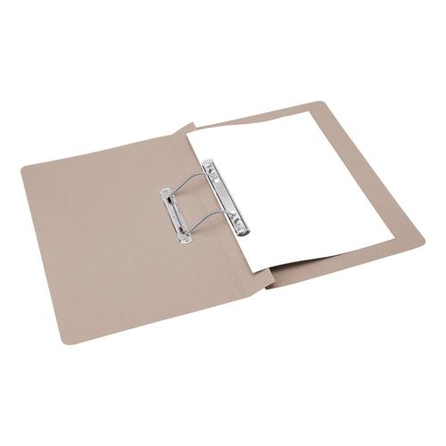 5 Star Office Transfer Spring File Mediumweight 285gsm Capacity 38mm Foolscap Buff [Pack 50]
