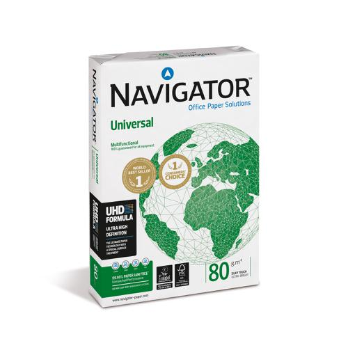 Navigator Universal Paper Multifunctional 80gsm A4 Wht Ref NUN0800033 [5 x 500Shts]