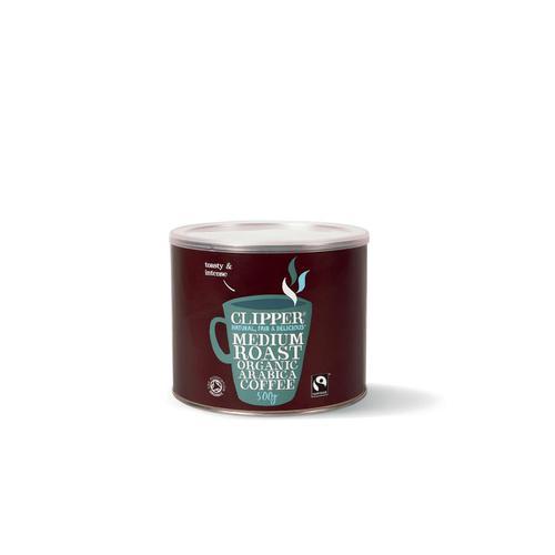 Clipper Fairtrade Instant Coffee Organic Granules Freeze Dried Tin 500g Ref A06762