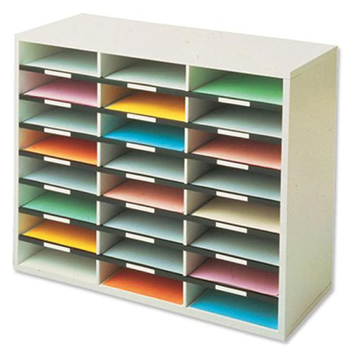 Fellowes Literature Sorter Melamine-laminated Shell 24 Compartments W737xD302xH595mm Ref 25041