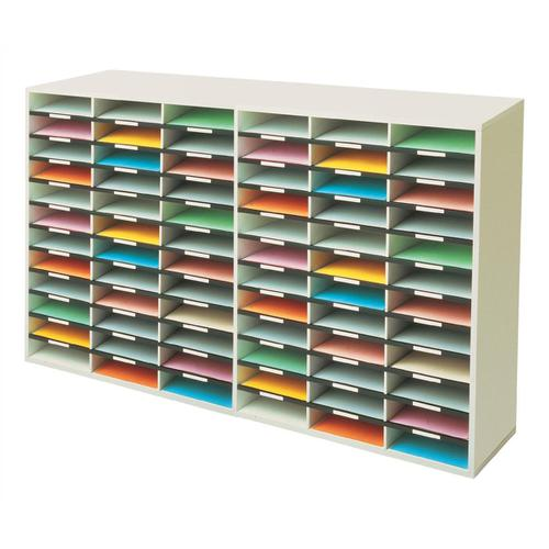 Fellowes Literature Sorter Melamine-laminated Shell 72 Compartments W737xD302xH1776mm Ref 25121