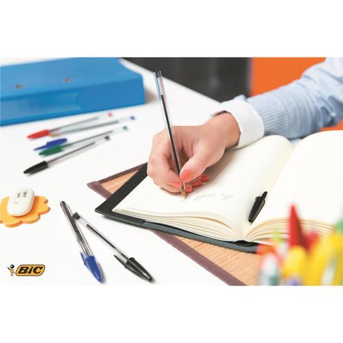 Bic Cristal Ball Pen Clear Barrel 1.0mm Tip 0.32mm Line Blue Ref 8373602 [Pack 50]  383923