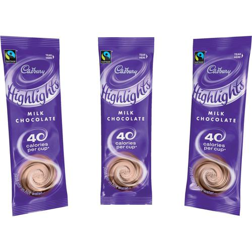 Cadbury Chocolate Highlights Fairtrade Hot Chocolate Powder Sachets Low Calorie Ref 0403173 [Pack 30]
