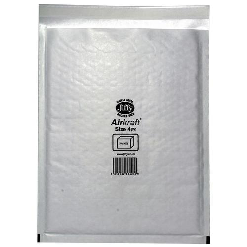 Jiffy Airkraft Bag Bubble-lined Size 4 Peel and Seal 240x320mm White Ref JL-4 [Pack 50]