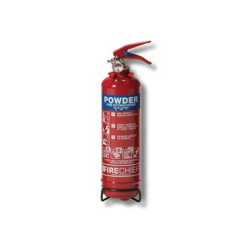 IVG 1.0KG Powder Fire Extinguisherfor Class A B and C Fires Ref WG10116