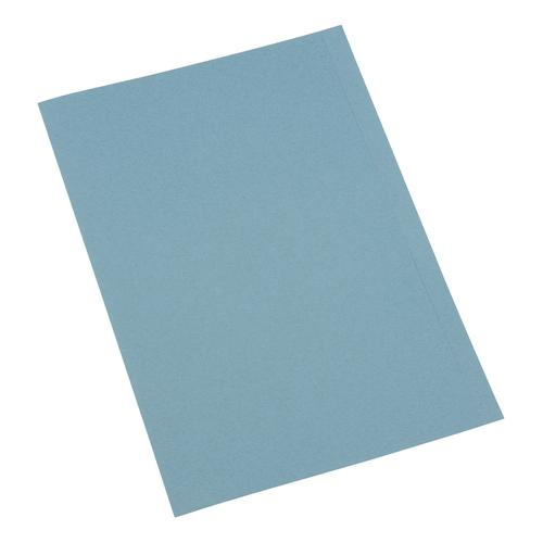 5 Star Office Square Cut Folder Recycled 250gsm A4 Blue [Pack 100]