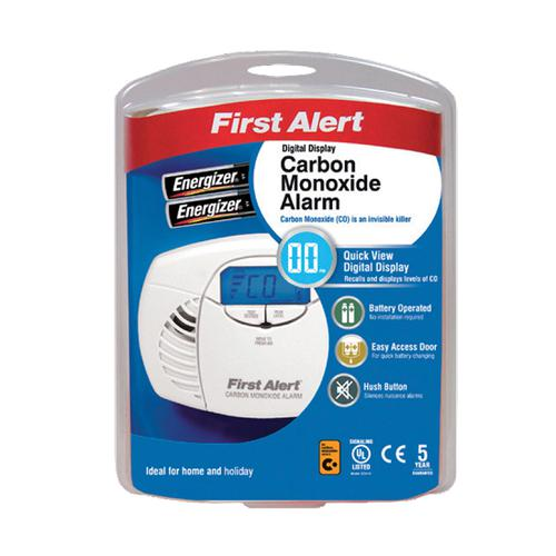 FireAngel First Alert Carbon Monoxide Detector Alarm Battery Powered LED and Fittings 85dB Ref FT0410