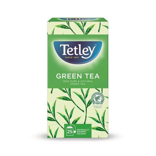 Tetley Individually Enveloped Tea Bags Pure Green Tea Ref 1293A [Pack 25]