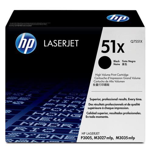 HP 51X Laser Toner Cartridge High Yield Page Life 13000pp Black Ref Q7551X