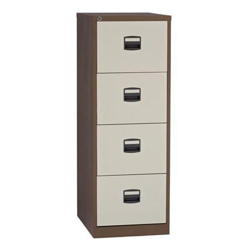 Trexus 4 Drawer Filing Cabinet 470x622x1321mm Coffee & Cream Ref 394984