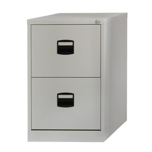 Trexus 2 Drawer Filing Cabinet 470x622x711mm Goose Grey Ref 394992