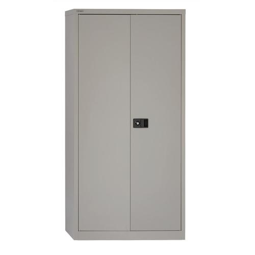 Trexus Two Door Steel Storage Cupboard 914x400x1806mm Grey Ref 395017
