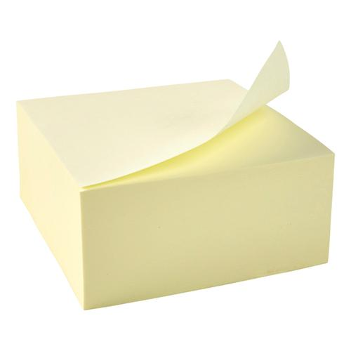 5 Star Office Re-Move Notes Cube Pad of 400 Sheets 76x76mm Yellow