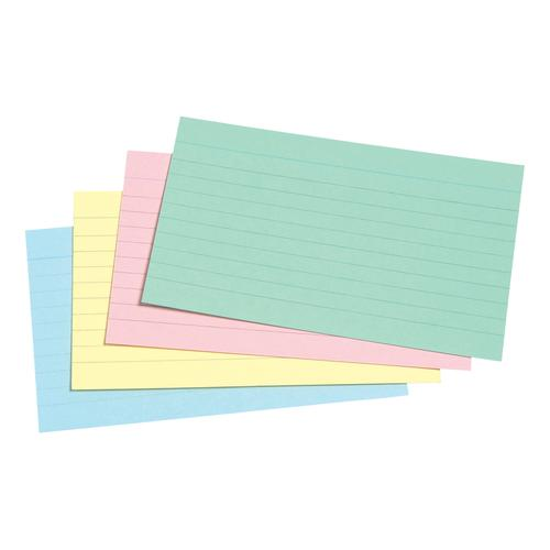 5 Star Office Record Cards Ruled Both Sides 5x3in 127x76mm Assorted [Pack 100]