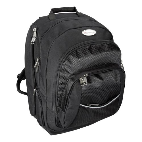 Lightpak Advantage Backpack Nylon with Detachable Laptop Sleeve Capacity 17in Black Ref 46090