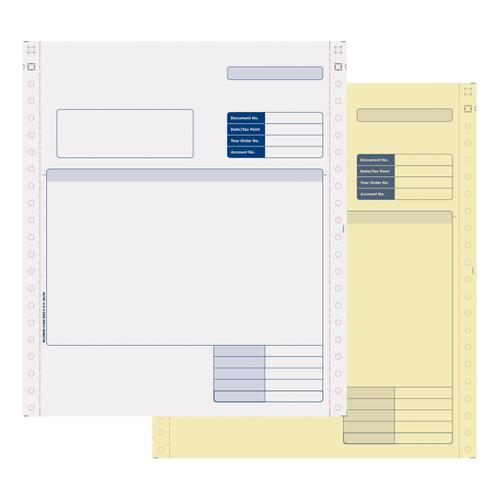 Sage Compatible Invoice 2 Part NCR Paper with Tinted Copies Ref SE02 [Pack 1000]