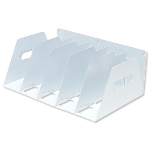 Lever Arch Filing Rack Portable Rigid Metal W410xD292xH160mm White