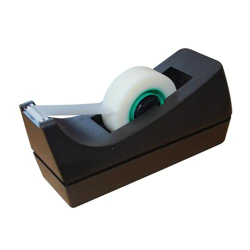 5 Star Office Tape Dispenser Desktop Roll Capacity 25mm Width 33m Length Black