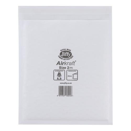 Jiffy Airkraft Bag Bubble-lined Peel and Seal Size 2 205x245mm White Ref JL-AMP-2-10 [Pack 10]